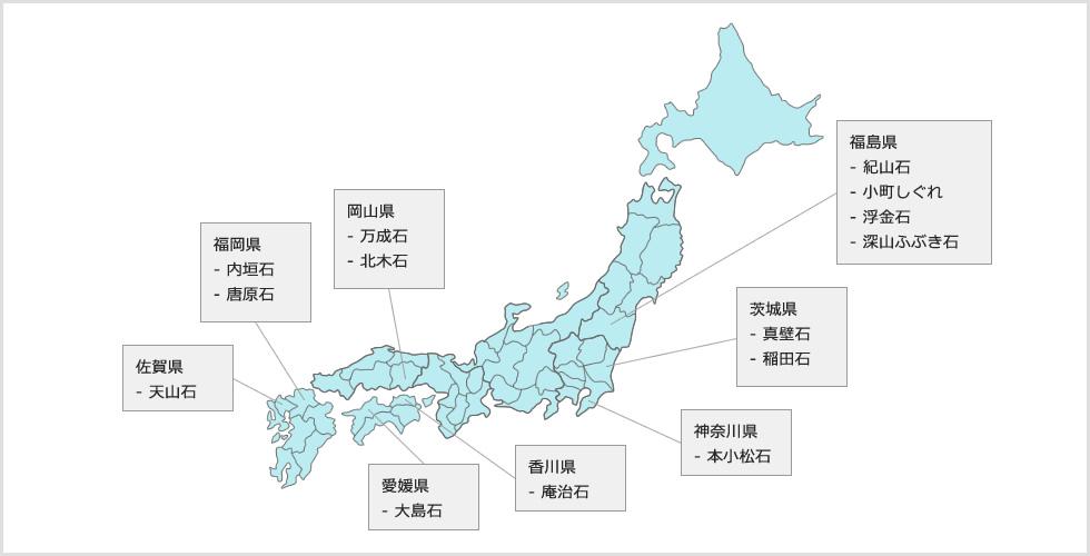 日本の石材